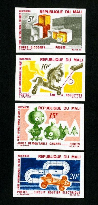 Mali Stamps # 118-21 VF Imperf OG NH
