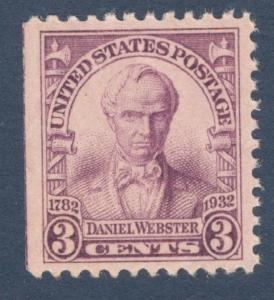 725 Daniel Webster US Single Mint/nh (Free Shipping)