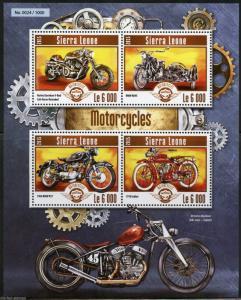 SIERRA LEONE 2015 MOTORCYCLES SHEET  MINT NEVER HINGED