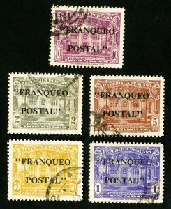 Peru Stamps # 389-93 VF Used Catalog Value $16.90