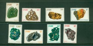 Zaire  #1102-09 (1982 Minerals set) VFMNH CV $21.95