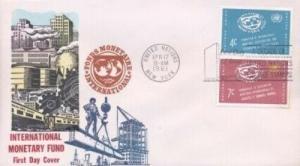 UN #90/91 INTERNATIONAL MONETARY - Overseas Mailer