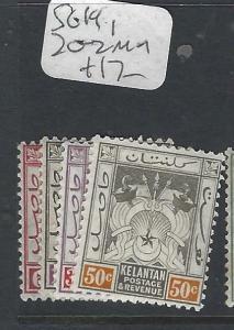 MALAYA KELANTAN  (P0502B)  ARMS  SG 19, 20-2   MOG