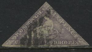 Cape of Good Hope 1863 6d purple used