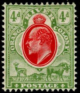 SOUTH AFRICA - Orange Free State SG150, 4d scarlet & sage-grn, M MINT. MULT CA