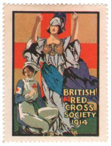 (I.B) Great War Cinderella : British Red Cross Charity Stamp