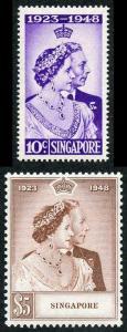 Singapore SG31/2 1948 Silver Wedding Superb Lightly Mounted Mint Set