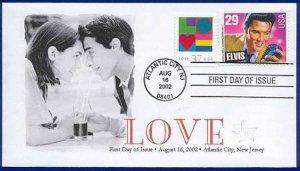 FPMG 3657 Love with Elvis Stamp Atlantic City NJ 8-16-2