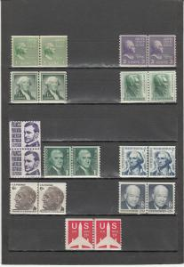 UNITED STATES *839/C82 10 DIFF MINT JOINT LINE PAIRS SEE DESCRI 2019 SSCV $10.40