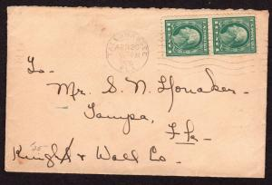 $Florida Machine Cancel Cover, Tallahassee, 4/20/1920, earliest recorded imp.