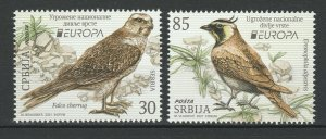 Serbia 2021 CEPT Europa Birds 2 MNH stamps