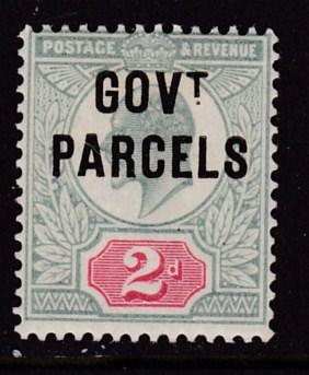 Great Britain 1902 KEVII Government Parcels 2d green & car  F/VF/Mint(*)