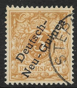 GERMAN NEW GUINEA SG1 1898 3pf BISTRE-BROWN USED