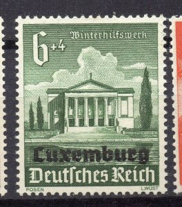 Germany Luxemburg Optd 1940 Early Issue Fine Mint Hinged 6pf. NW-05297