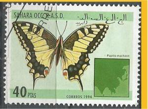 SAHARA, 1994, CTO 40p Butterfkies Scott Cinderella