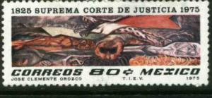 MEXICO 1142, 80¢ Sesquicentennial of Supreme Court - Mural by Orozco MNH. VF.