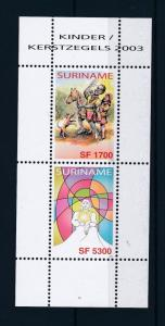 [SU1221] Suriname Surinam 2003 Christmas Souvenir Sheet MNH