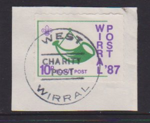 GREAT BRITAIN CINDERELLA STAMP FRO WIRRAL POST . LOT#147