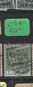 MOROCCO AGENCIES  (P2908B)  QV  5C  SG  9    VFU