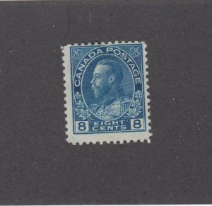 CANADA (MK4646) # 115  F-MH  8cts  1925  KGV ADMIRAL / BLUE CAT VALUE $20
