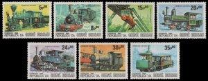 1984 Guinea Bissau 826-832 Locomotives 7,50 €