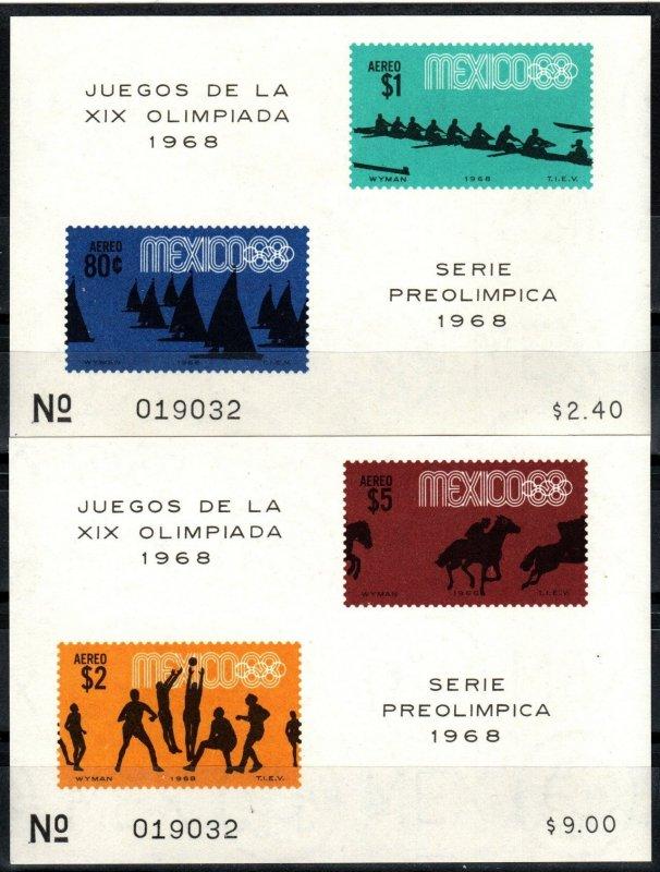 Mexico  #C336a, C338a  MNH CV $11.00 (X8866)