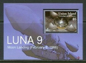 UNION ISLAND LUNA 9 MOON LANDING SOUVENIR SHEET MINT NH