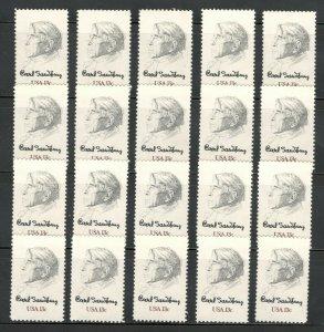 1731 Carl Sandburg Wholesale Lot Of 20 US Stamps Mint/nh Below Face Value