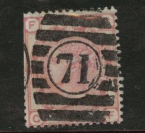 Great Britain Scott 61, 1873 Victoria 3p Plate 14 CV$47.50