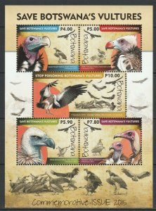 Botswana 2015 Birds of Prey MNH Block
