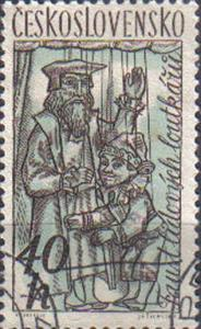 CZECHOSLOVAKIA, 1961 used 40h. ?Dr. Faustus and Caspar?, Puppets