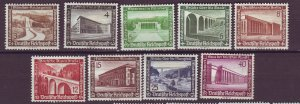J25169 JLstamps 1936 nazi germany full mhr #b93-101 views structures