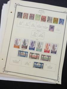 EDW1949SELL : GABON Very clean Mint & Used collection on album pages. Cat $873.