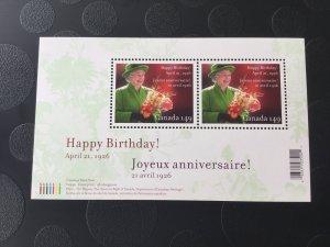 Canada Mint NH #2150 Queen Elizabeth II, 80th birthday