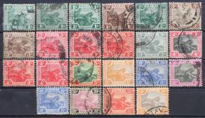 Malaya Federated Malay States FMS 1904-22 Tigers 22V 1c-50c MCCA Used M1981