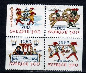 J23071 JLstamps 1983 sweden mnh set #1474-7 christmas