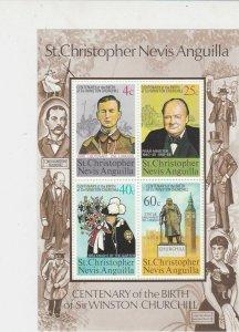 St.Christopher Nevis Anguilla Sir Winston Churchill MNH Stamps Sheet Ref 27131