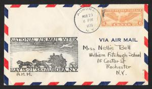 UNITED STATES Event Cover National Air Mail Week 1938 Aurora