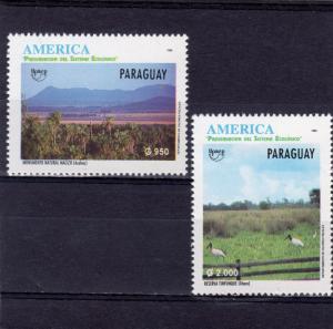 Paraguay 1995 Sc#2521/2522 America-Upaep '95 Birds Set (2) MNH