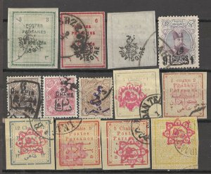 COLLECTION LOT # 4125 IRAN 13 STAMPS 1900+ CV+$23