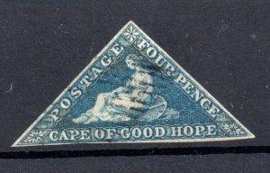 Cape of Good Hope 4d blue Triangle good used three margins WS19085