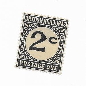 British Honduras #J2a MH - Stamp - CAT VALUE $2.75
