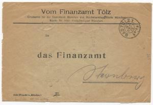 Germany Scott #O36 x20 #O37 x5 #O39 x5 on Cover OCtober 18, 1922 Badtolz