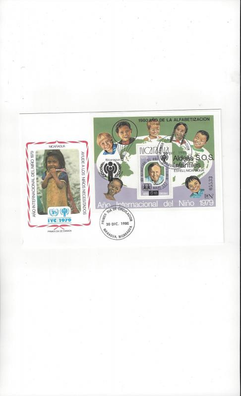 nicaragua FDC International Year of the Child 1979 Official Cachet