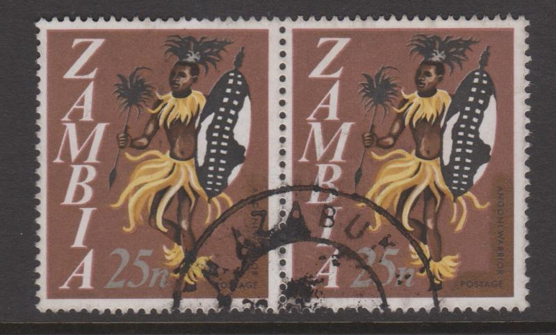 Zambia 1968 Sc#47 Used Pair