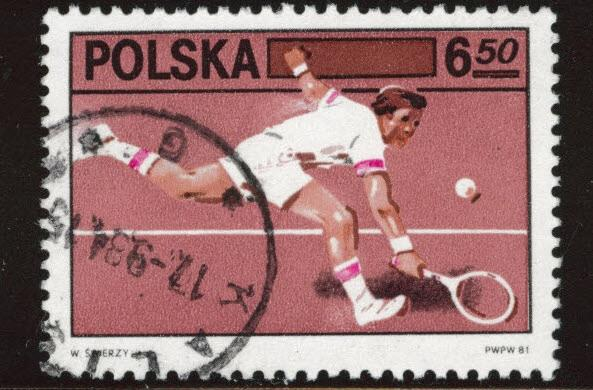 Poland Scott 2472 used tennis stamp