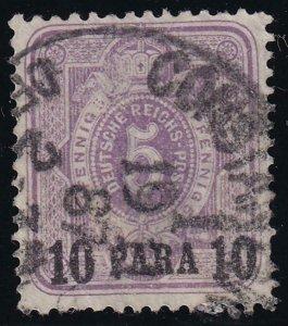 German Offices in Turkey 1884 SC 1 Used