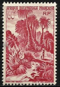 French Equatorial Africa 1946 Scott# 170 MH (thin)