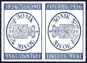 Finland Sc# 341a MNH tete beche pair 1956 Finlandia