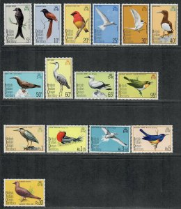 $British Indian Ocean Territory Sc#63-77 M/NH/VF, complete set, Birds Cv. $35.25